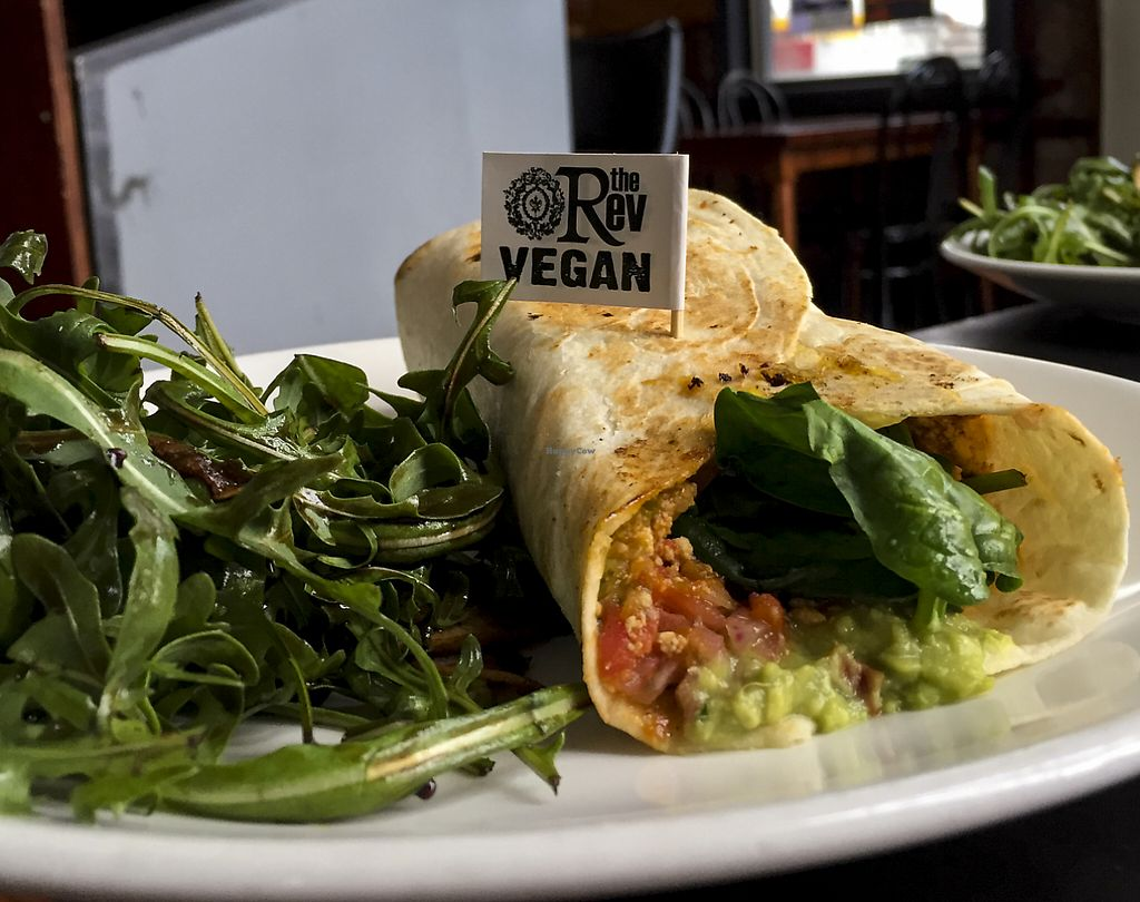 """Photo of The Reverence Hotel  by <a href=""""/members/profile/karlaess"""">karlaess</a> <br/>Vegan Breakfast Burrito <br/> August 8, 2015  - <a href='/contact/abuse/image/39973/256679'>Report</a>"""