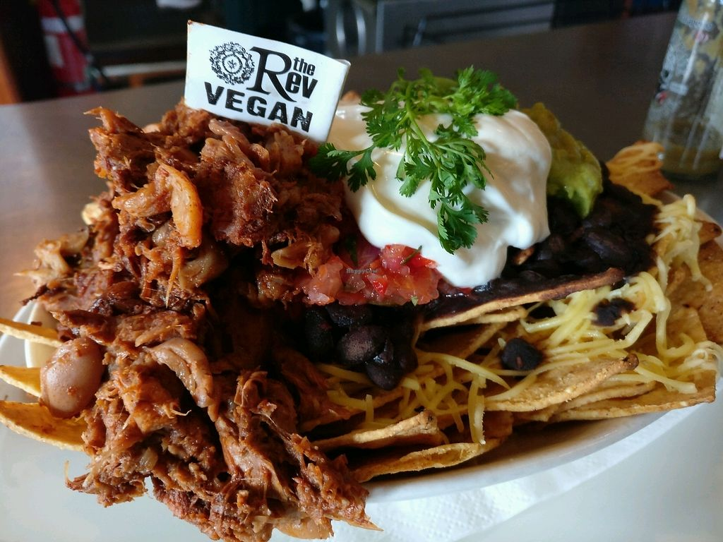 """Photo of The Reverence Hotel  by <a href=""""/members/profile/Aloo"""">Aloo</a> <br/>nachos with pulled vegan pork <br/> March 15, 2018  - <a href='/contact/abuse/image/39973/370916'>Report</a>"""