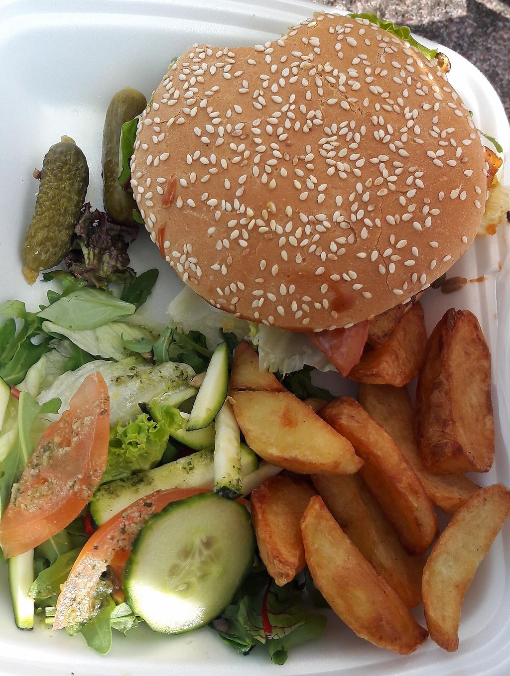 "Photo of Vieta  by <a href=""/members/profile/VeganChick2"">VeganChick2</a> <br/>vegan burger tofu <br/> May 7, 2016  - <a href='/contact/abuse/image/39993/238492'>Report</a>"
