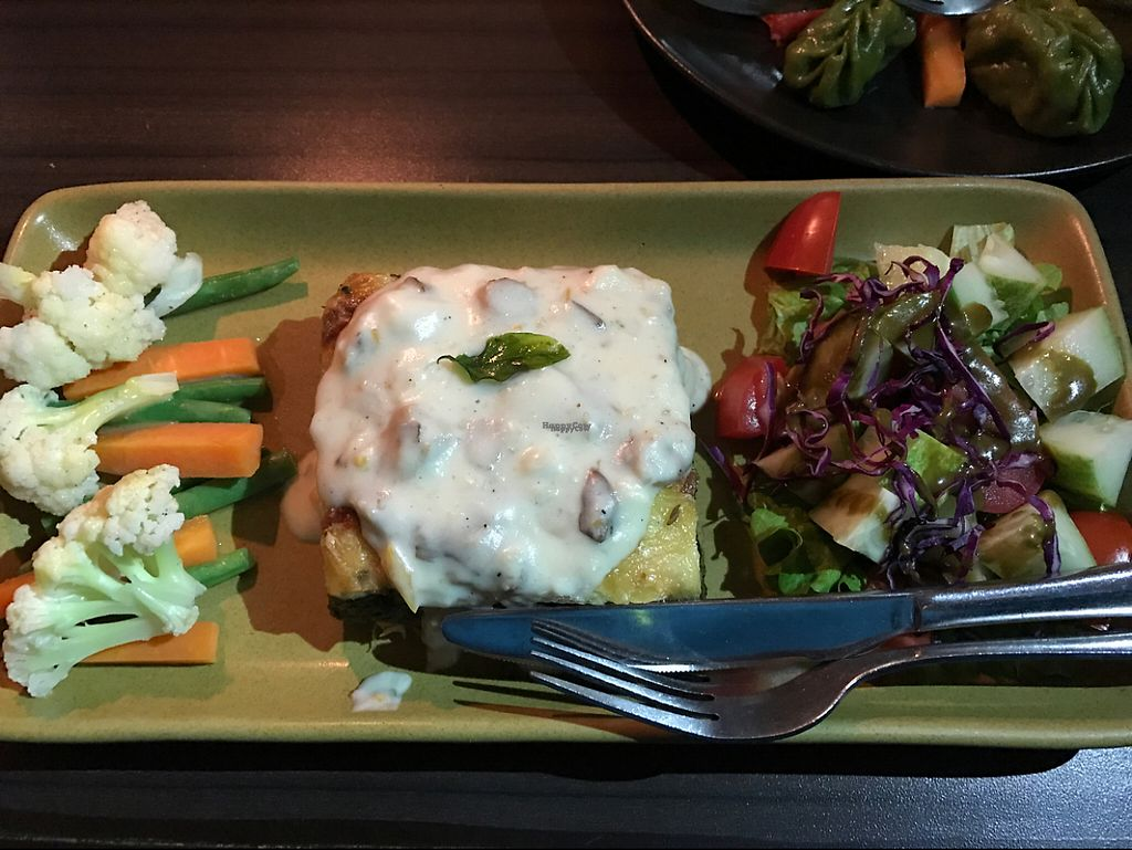 """Photo of Places Restaurant and Bar  by <a href=""""/members/profile/marukochan"""">marukochan</a> <br/>spinach pie with hollandaise sauce <br/> January 28, 2017  - <a href='/contact/abuse/image/40015/218209'>Report</a>"""