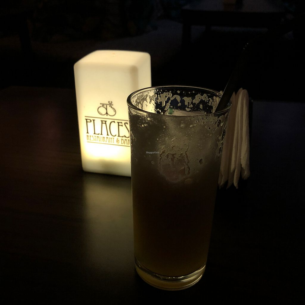 """Photo of Places Restaurant and Bar  by <a href=""""/members/profile/earthville"""">earthville</a> <br/>Atmospheric pineapple juice <br/> March 10, 2018  - <a href='/contact/abuse/image/40015/368897'>Report</a>"""