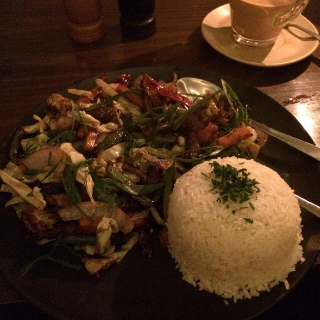 """Photo of Places Restaurant and Bar  by <a href=""""/members/profile/Maddyeve88"""">Maddyeve88</a> <br/>Vegan Chinese Veggie Dish  <br/> January 16, 2015  - <a href='/contact/abuse/image/40015/90471'>Report</a>"""
