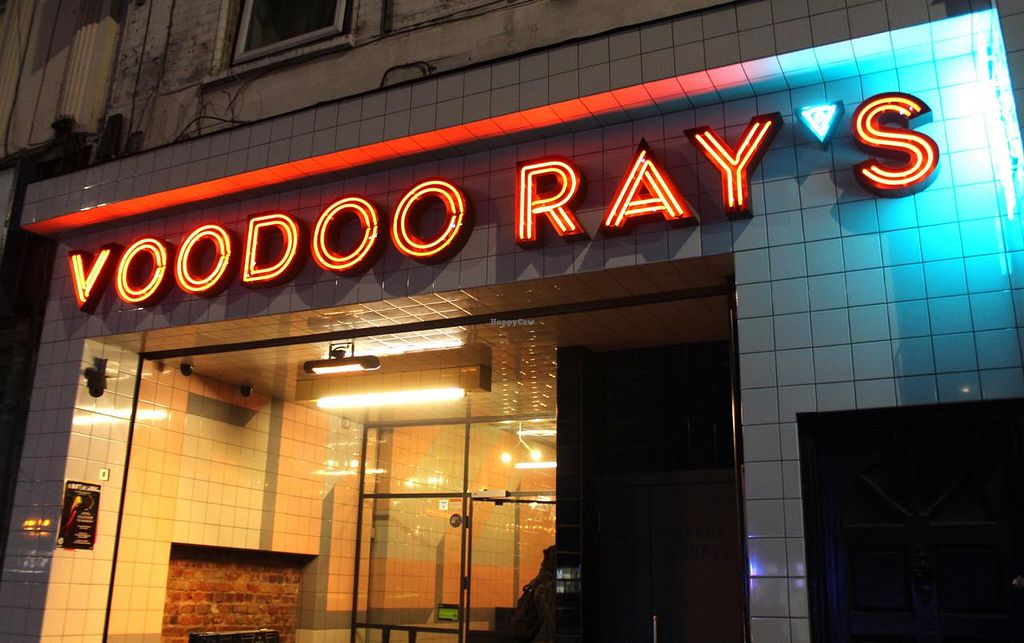 "Photo of Voodoo Rays - Dalston  by <a href=""/members/profile/kezia"">kezia</a> <br/>Outside the restaurant <br/> March 13, 2015  - <a href='/contact/abuse/image/40022/95649'>Report</a>"