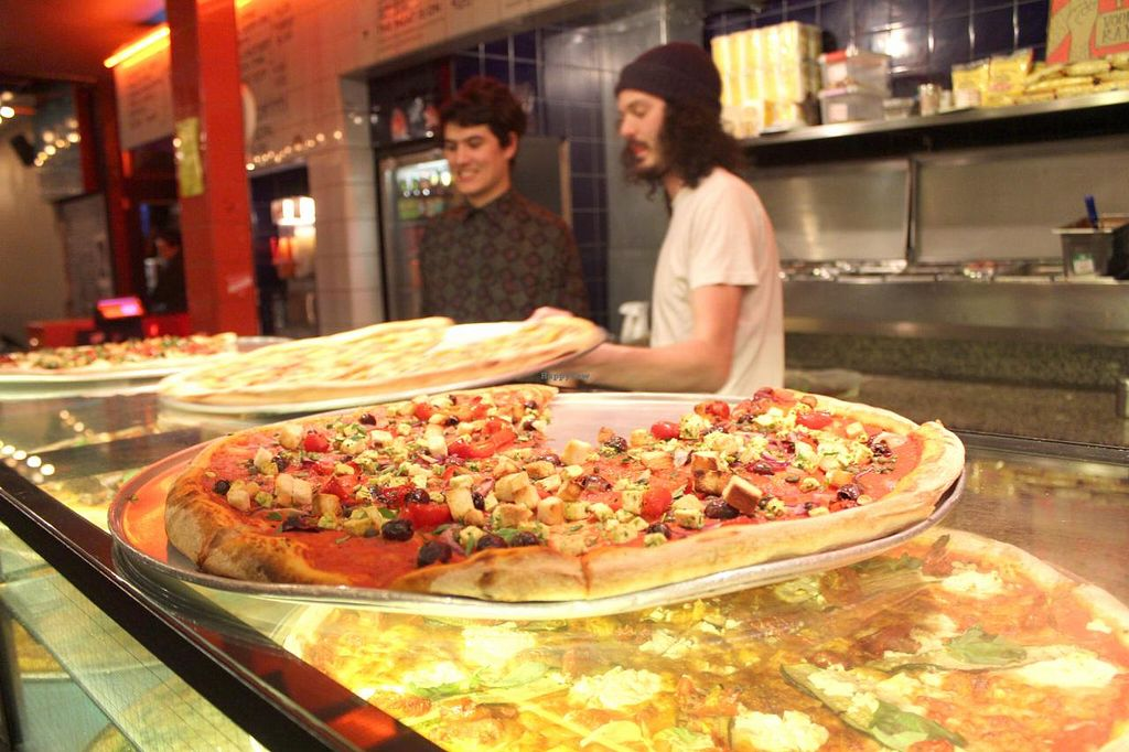 "Photo of Voodoo Rays - Dalston  by <a href=""/members/profile/kezia"">kezia</a> <br/>Serving up the pizza's at Voo Doo Rays <br/> March 13, 2015  - <a href='/contact/abuse/image/40022/95654'>Report</a>"