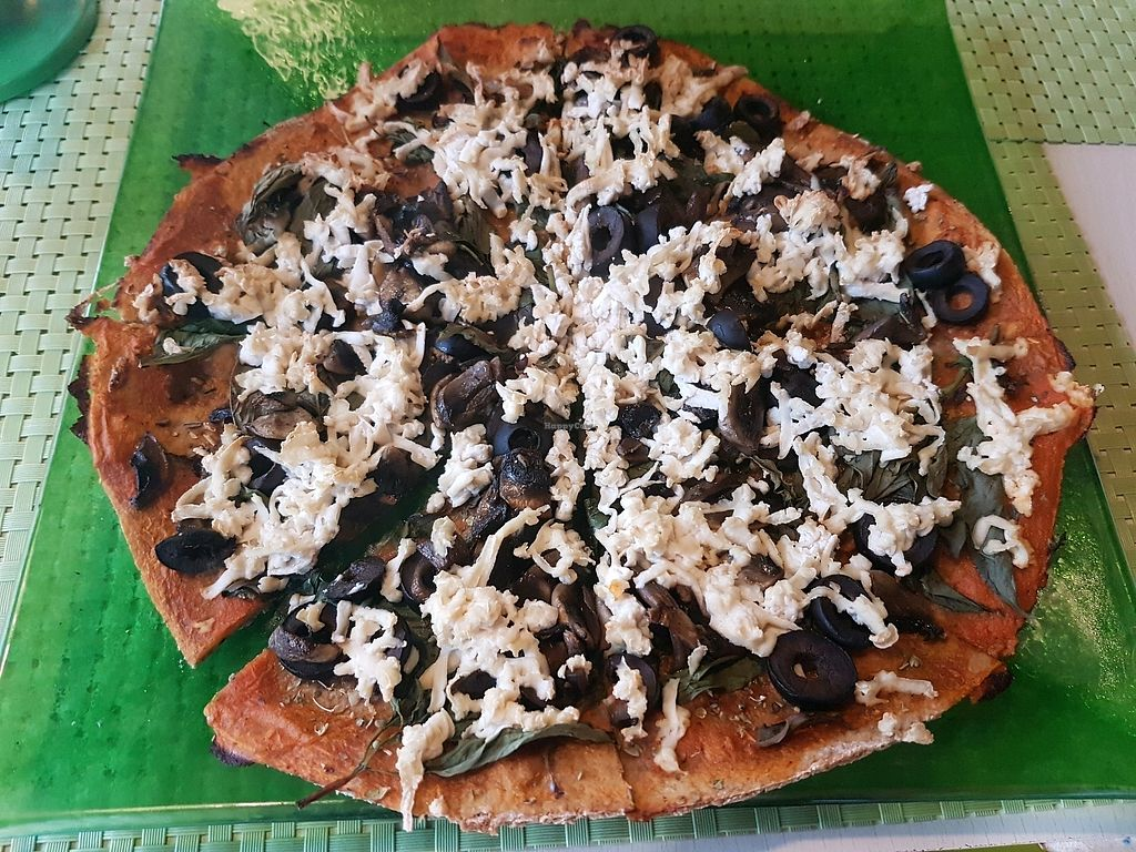 """Photo of 77 Veggie Boutique  by <a href=""""/members/profile/Olena"""">Olena</a> <br/>vegan pizza  <br/> April 10, 2018  - <a href='/contact/abuse/image/40024/383388'>Report</a>"""