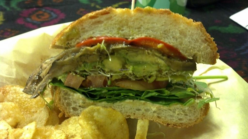 """Photo of Pot Pie Paradise  by <a href=""""/members/profile/KeghanMerr"""">KeghanMerr</a> <br/>Vegan Garden Sandwich on Sourdough <br/> September 5, 2014  - <a href='/contact/abuse/image/40039/79141'>Report</a>"""