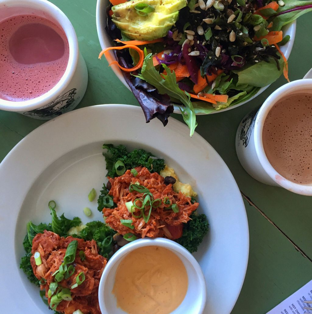"""Photo of Harlow  by <a href=""""/members/profile/lolacooks"""">lolacooks</a> <br/>polenta with jackfruit and the urban bowl <br/> August 14, 2016  - <a href='/contact/abuse/image/40043/168756'>Report</a>"""