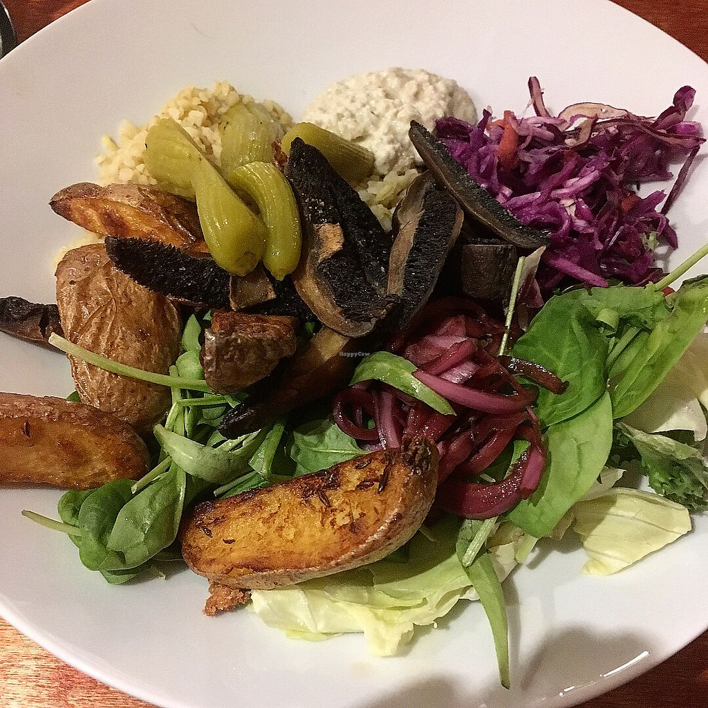 """Photo of Vegtral Restaurace  by <a href=""""/members/profile/sharkakerr"""">sharkakerr</a> <br/>Mushroom bowl (vegan) <br/> January 15, 2018  - <a href='/contact/abuse/image/40051/346998'>Report</a>"""