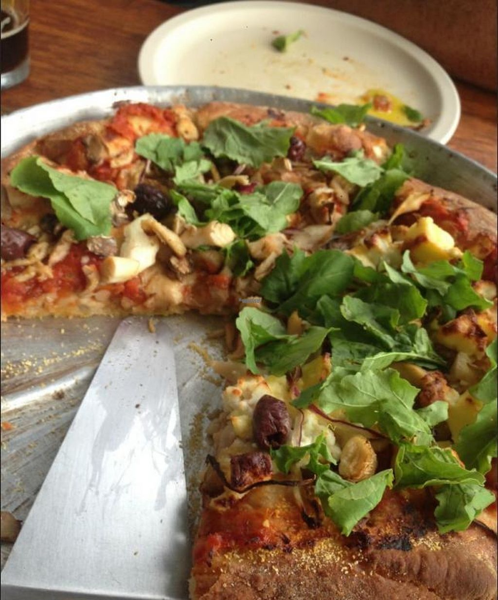"""Photo of Ravi Gastropub and Cafe  by <a href=""""/members/profile/JessicaMerced"""">JessicaMerced</a> <br/>Vegan pizza. The crust is really special.  <br/> August 10, 2016  - <a href='/contact/abuse/image/40060/167566'>Report</a>"""