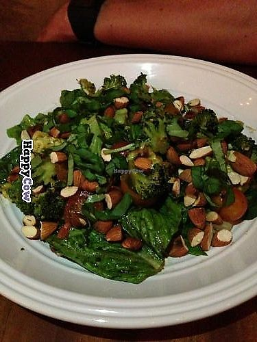 """Photo of Ravi Gastropub and Cafe  by <a href=""""/members/profile/Longina"""">Longina</a> <br/>Green Salad: Romain lettuce, tuscan kale, broccoli, avocado, roasted almonds and herb vinagrette <br/> July 22, 2013  - <a href='/contact/abuse/image/40060/274491'>Report</a>"""