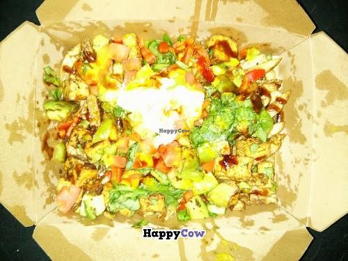 """Photo of CLOSED: Ready Veggie  by <a href=""""/members/profile/Elizabeth"""">Elizabeth</a> <br/>These are the vegan jerk fries. It was loaded with goodness! Fries, spinach, homemade sauce, avocado, tomatoes, bell pepper, seasoning, and topped with veganaise <br/> July 19, 2013  - <a href='/contact/abuse/image/40073/51524'>Report</a>"""