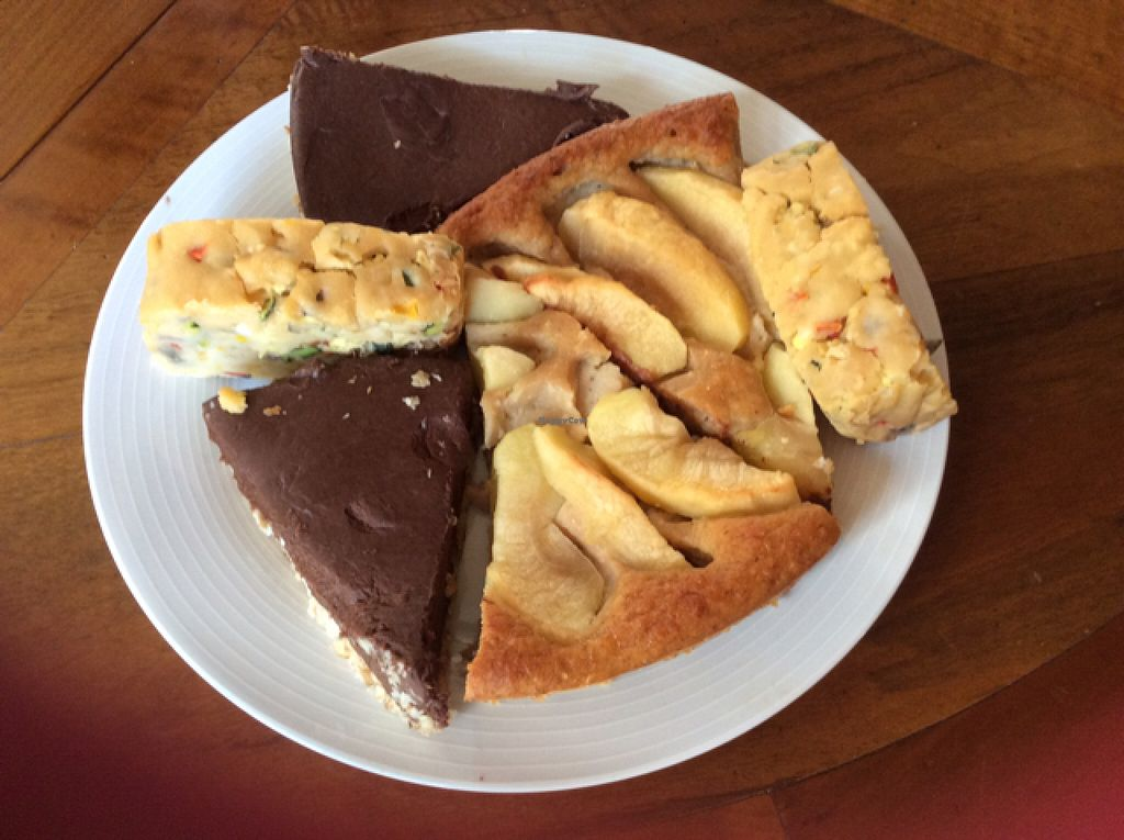"""Photo of Be Vegan Make Peace - Food Stall  by <a href=""""/members/profile/AndreaD"""">AndreaD</a> <br/>a wonderful selection of vegan deserts <br/> August 9, 2015  - <a href='/contact/abuse/image/40075/112837'>Report</a>"""