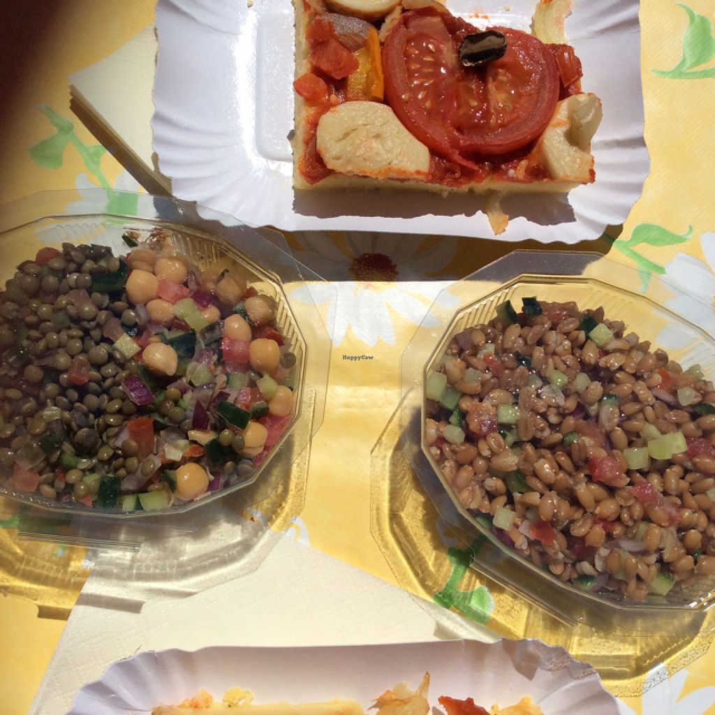 """Photo of Be Vegan Make Peace - Food Stall  by <a href=""""/members/profile/AndreaD"""">AndreaD</a> <br/>Ursulas amazing VEGAN salads and pizza <br/> August 9, 2015  - <a href='/contact/abuse/image/40075/112838'>Report</a>"""