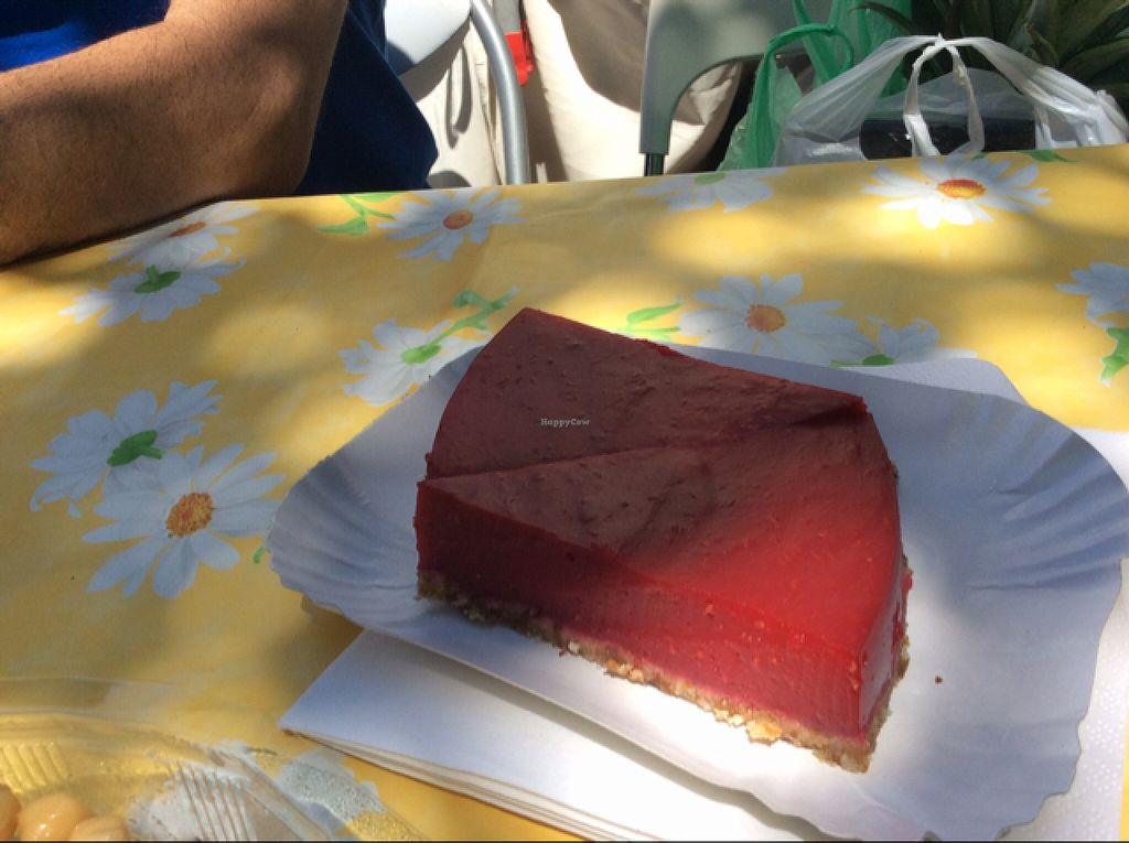 """Photo of Be Vegan Make Peace - Food Stall  by <a href=""""/members/profile/AndreaD"""">AndreaD</a> <br/>raspberry tart, with delicious almond base <br/> August 9, 2015  - <a href='/contact/abuse/image/40075/112839'>Report</a>"""