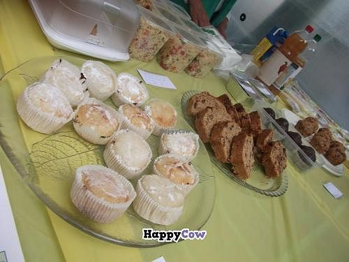 """Photo of Be Vegan Make Peace - Food Stall  by <a href=""""/members/profile/Vegancucc"""">Vegancucc</a> <br/>Vegan cakes and muffins <br/> July 20, 2013  - <a href='/contact/abuse/image/40075/51690'>Report</a>"""