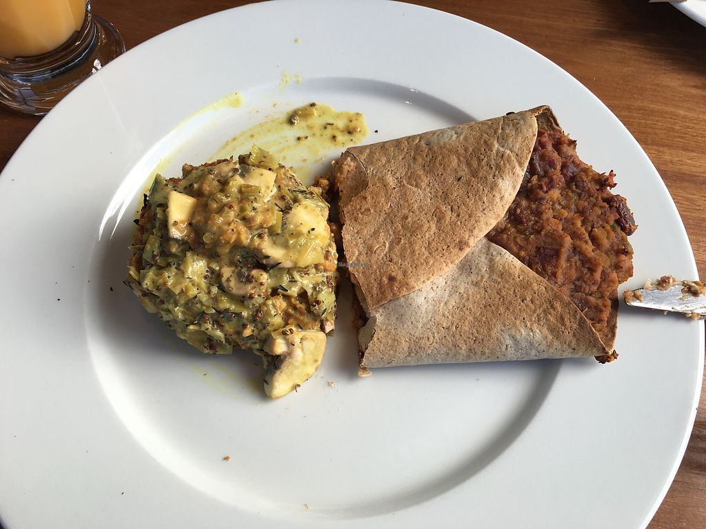 "Photo of Silva  by <a href=""/members/profile/Imixle"">Imixle</a> <br/>Half a bean tortilla wrap and the curried nut roast  <br/> August 29, 2017  - <a href='/contact/abuse/image/40113/298632'>Report</a>"