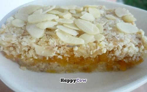 """Photo of Vegan Life Energy  by <a href=""""/members/profile/veganlifeenergy"""">veganlifeenergy</a> <br/>Raw Almond Tart with Apricot filling <br/> September 17, 2013  - <a href='/contact/abuse/image/40114/55067'>Report</a>"""
