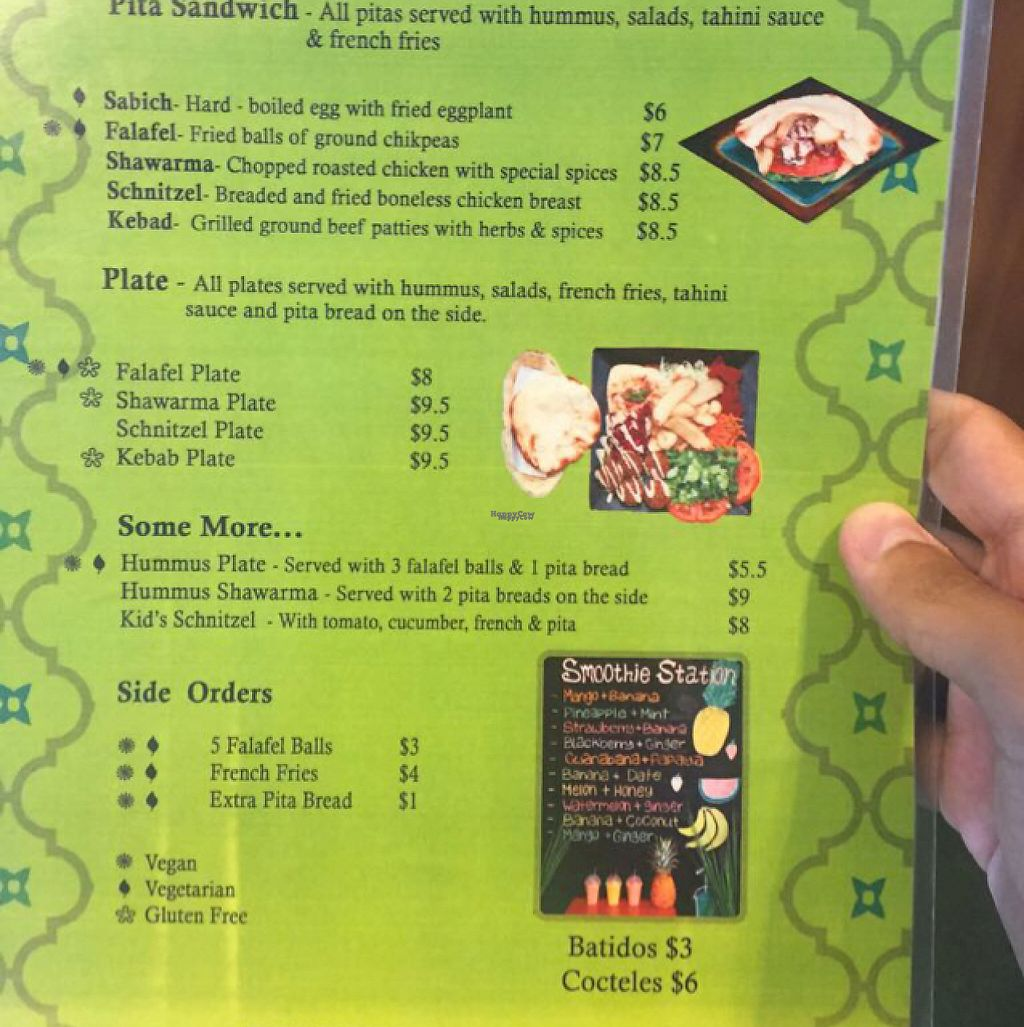 """Photo of Falafel Bar  by <a href=""""/members/profile/pam_osorio"""">pam_osorio</a> <br/>menu  <br/> February 26, 2017  - <a href='/contact/abuse/image/40115/230795'>Report</a>"""