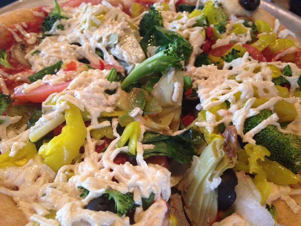 """Photo of Mellow Mushroom  by <a href=""""/members/profile/calamaestra"""">calamaestra</a> <br/>Vegan pizza <br/> December 20, 2014  - <a href='/contact/abuse/image/40124/88386'>Report</a>"""