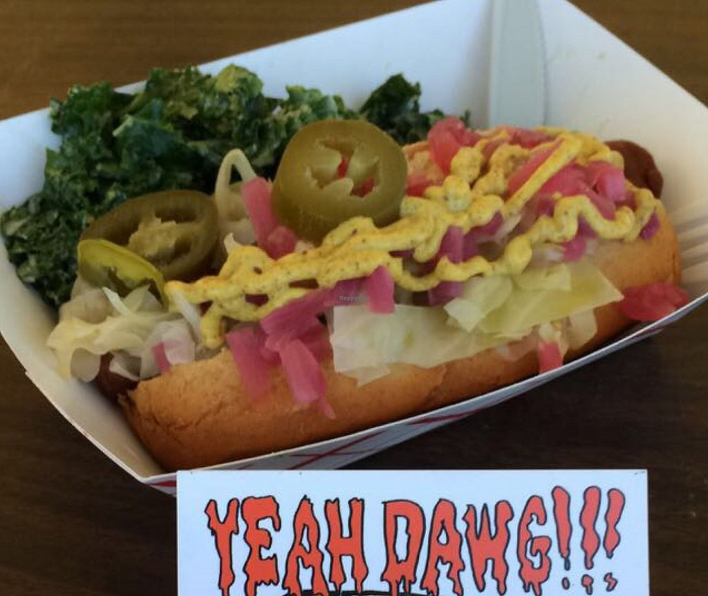 "Photo of Yeah Dawg - Food Cart  by <a href=""/members/profile/veggiehobbit"">veggiehobbit</a> <br/>new yorker dog <br/> November 12, 2015  - <a href='/contact/abuse/image/40141/209447'>Report</a>"