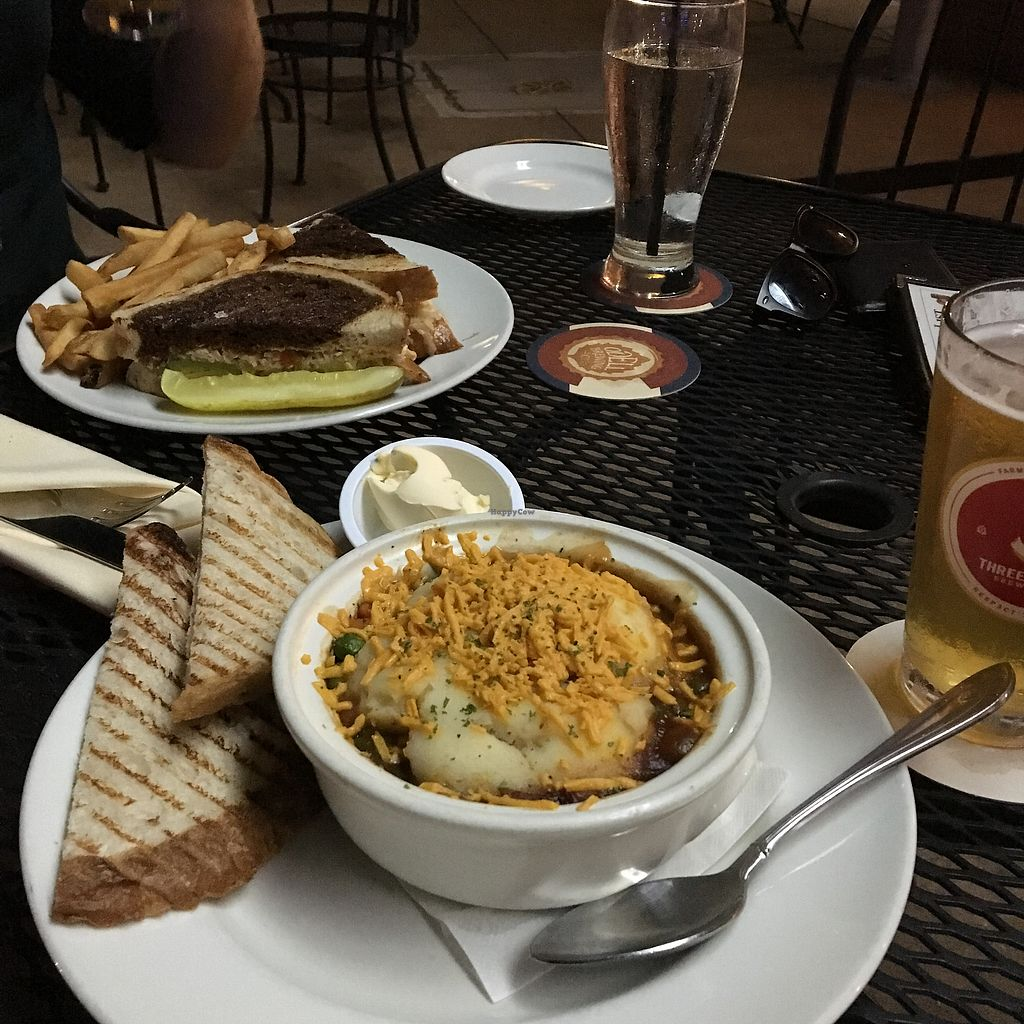 """Photo of Trinity Hall  by <a href=""""/members/profile/Dravarol"""">Dravarol</a> <br/>Vegan shepherd's pie and the Ruben-esque  <br/> June 22, 2017  - <a href='/contact/abuse/image/40151/272218'>Report</a>"""