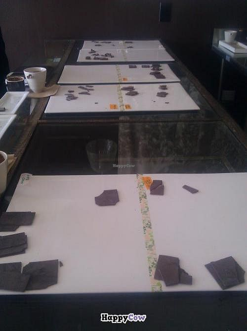 """Photo of ChocoVivo  by <a href=""""/members/profile/kenvegan"""">kenvegan</a> <br/>Chocolate tasting at Choco Vivo <br/> July 23, 2013  - <a href='/contact/abuse/image/40153/51954'>Report</a>"""