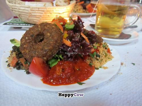 """Photo of Restaurant Café Kostbar  by <a href=""""/members/profile/VegiAnna"""">VegiAnna</a> <br/>Freestyle Plate with Falafel <br/> July 31, 2013  - <a href='/contact/abuse/image/40162/52489'>Report</a>"""