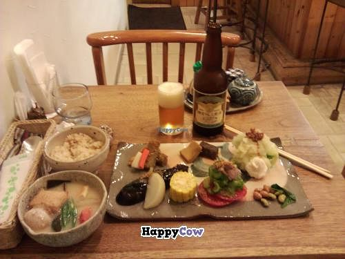 """Photo of CLOSED: Tomtam  by <a href=""""/members/profile/Rageru"""">Rageru</a> <br/>An all vegan main course with much vegetables, tofu, beans, rise and a miso soup. Also a locally brewed beer from the towns brewery <br/> July 24, 2013  - <a href='/contact/abuse/image/40165/52031'>Report</a>"""