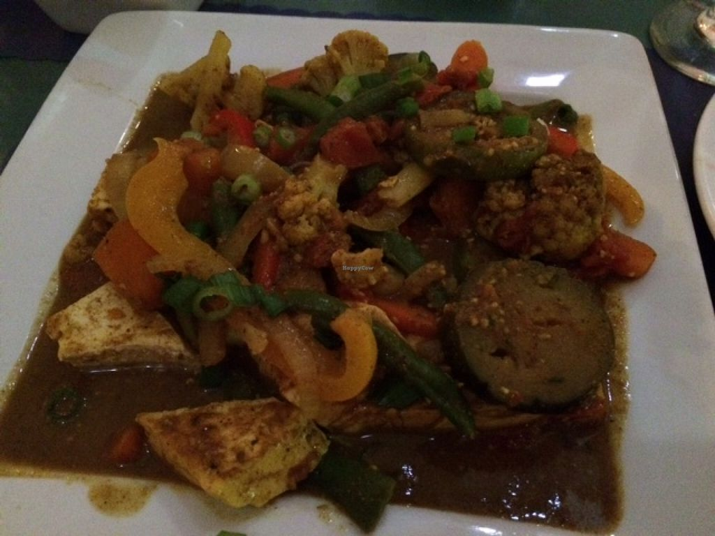 """Photo of Bamboo Fire Cafe  by <a href=""""/members/profile/veggylvr"""">veggylvr</a> <br/>Oil-free vegetable curry with tofu <br/> April 5, 2016  - <a href='/contact/abuse/image/40208/142876'>Report</a>"""