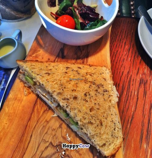 """Photo of The Coffee House of Nottingham  by <a href=""""/members/profile/EndikaW.Bush"""">EndikaW.Bush</a> <br/>Vegan cheese, avocado and chutney sandwich.  <br/> December 14, 2013  - <a href='/contact/abuse/image/40232/60318'>Report</a>"""