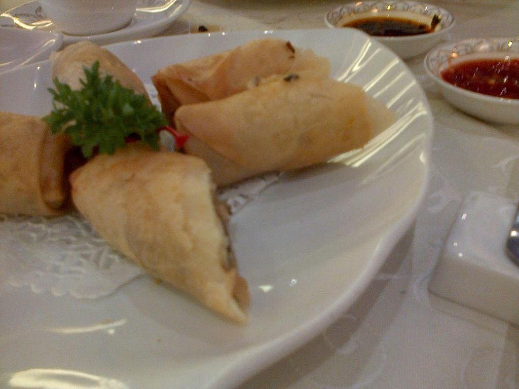 """Photo of Wutai Vegetarian Restaurant  by <a href=""""/members/profile/JK"""">JK</a> <br/>Spring rolls <br/> September 14, 2014  - <a href='/contact/abuse/image/40238/79882'>Report</a>"""