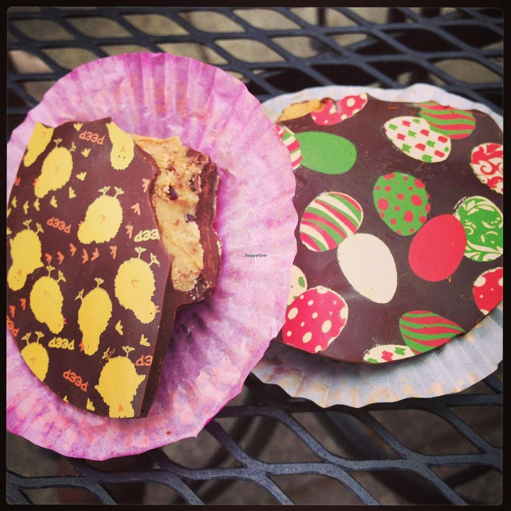 """Photo of Shine Cafe  by <a href=""""/members/profile/jennamichelle1"""">jennamichelle1</a> <br/>Vegan peanut butter cups with fun Easter designs <br/> May 14, 2014  - <a href='/contact/abuse/image/4023/69970'>Report</a>"""