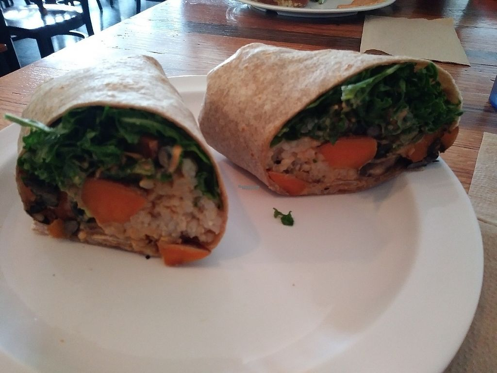 """Photo of Lulu's Local Eatery  by <a href=""""/members/profile/Awinterfield"""">Awinterfield</a> <br/>Black bean and sweet potato wrap with chipotle sauce <br/> April 2, 2017  - <a href='/contact/abuse/image/40268/244063'>Report</a>"""