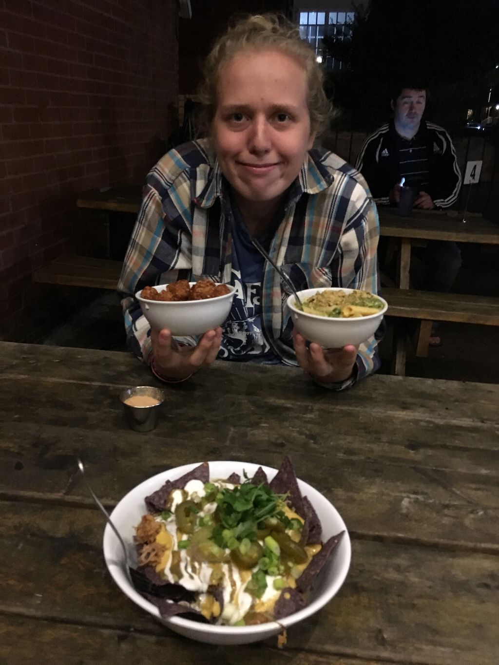 """Photo of Lulu's Local Eatery  by <a href=""""/members/profile/SkyFitzgerald"""">SkyFitzgerald</a> <br/>Loaded nachos, pesto mac and cheese and tater tots!  <br/> October 20, 2017  - <a href='/contact/abuse/image/40268/316947'>Report</a>"""