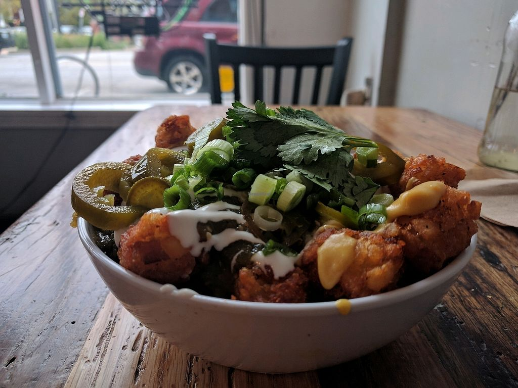 """Photo of Lulu's Local Eatery  by <a href=""""/members/profile/LibbyKnight"""">LibbyKnight</a> <br/>loaded nacho tots <br/> October 24, 2017  - <a href='/contact/abuse/image/40268/318600'>Report</a>"""