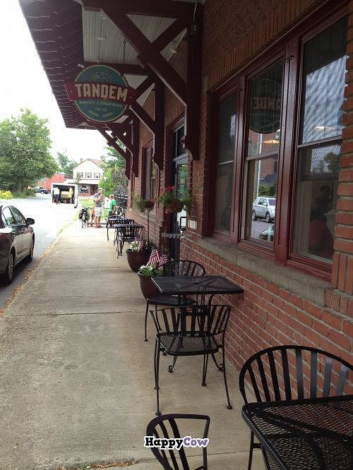 """Photo of Tandem Bagel Company  by <a href=""""/members/profile/Sarah%20P"""">Sarah P</a> <br/>Tandem sidewalk <br/> September 24, 2013  - <a href='/contact/abuse/image/40272/55585'>Report</a>"""