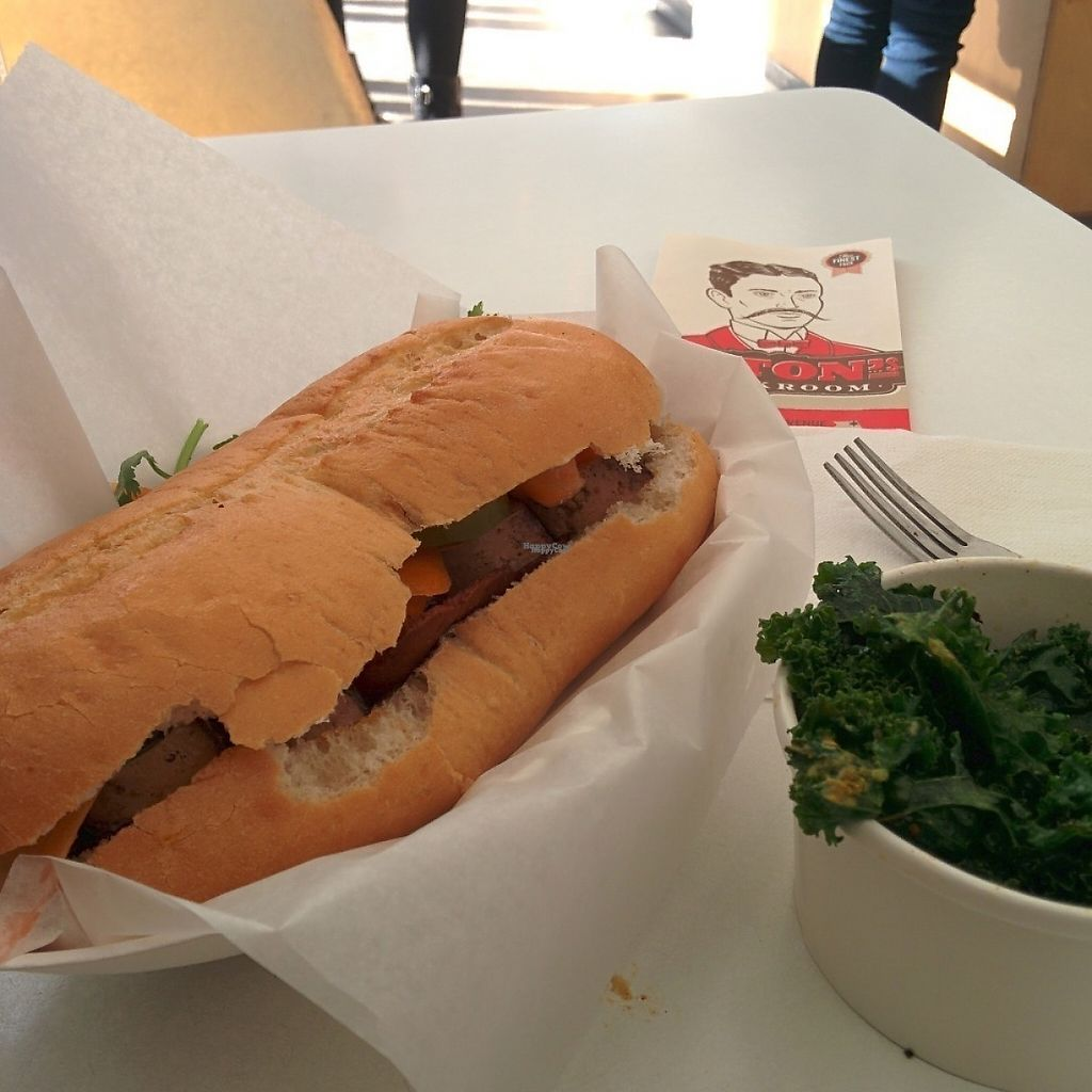 "Photo of Upton's Breakroom  by <a href=""/members/profile/makemenervous"">makemenervous</a> <br/>Bahn Mi & Kale <br/> March 18, 2017  - <a href='/contact/abuse/image/40290/238055'>Report</a>"