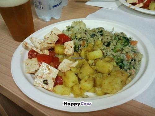 "Photo of Giro Bio  by <a href=""/members/profile/GigioGiroBio"">GigioGiroBio</a> <br/>quinoa + potatoes with curry + caprese vegan (tofu, tomatoes salad) <br/> July 30, 2013  - <a href='/contact/abuse/image/40300/52461'>Report</a>"