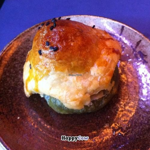 """Photo of Zhou Ye Cottage  by <a href=""""/members/profile/chazyvr"""">chazyvr</a> <br/>Some sort of rice cake under pastry <br/> July 27, 2013  - <a href='/contact/abuse/image/40317/52305'>Report</a>"""