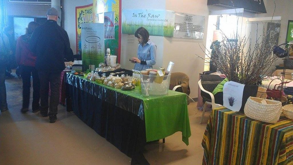 "Photo of Alderney Landing Farmer's Market  by <a href=""/members/profile/QuothTheRaven"">QuothTheRaven</a> <br/>In the Raw is an all-vegan vendor that offers fresh juice, almond milk, vegan cream cheese, salads and much more.  <br/> April 26, 2014  - <a href='/contact/abuse/image/40337/68653'>Report</a>"