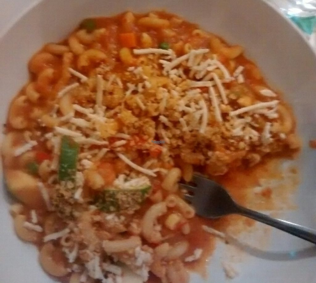 """Photo of Loving Hut - Brooklyn  by <a href=""""/members/profile/Cam"""">Cam</a> <br/>classic mac & cheese and complimentary tea <br/> November 9, 2016  - <a href='/contact/abuse/image/40374/209688'>Report</a>"""