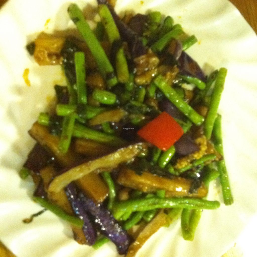 """Photo of Zizhulin  by <a href=""""/members/profile/BaDookie%21%21"""">BaDookie!!</a> <br/>Eggplant and green bean stir fry <br/> August 29, 2015  - <a href='/contact/abuse/image/40396/115620'>Report</a>"""