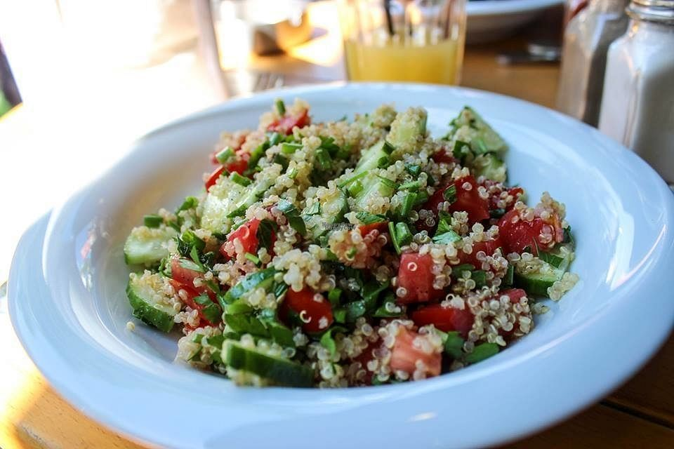 """Photo of The Green Bean Coffee Shop  by <a href=""""/members/profile/SueClesh"""">SueClesh</a> <br/>quinoa salad <br/> September 25, 2016  - <a href='/contact/abuse/image/40399/177897'>Report</a>"""