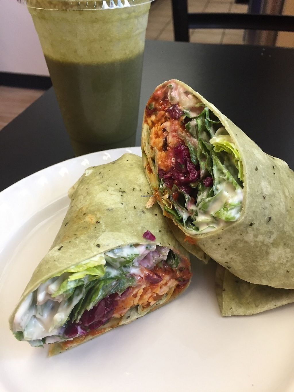 "Photo of Nectar Cafe  by <a href=""/members/profile/BriggitteJ"">BriggitteJ</a> <br/>Vegan Buffalo Tempeh wrap - YUM!  <br/> May 19, 2017  - <a href='/contact/abuse/image/40401/260472'>Report</a>"