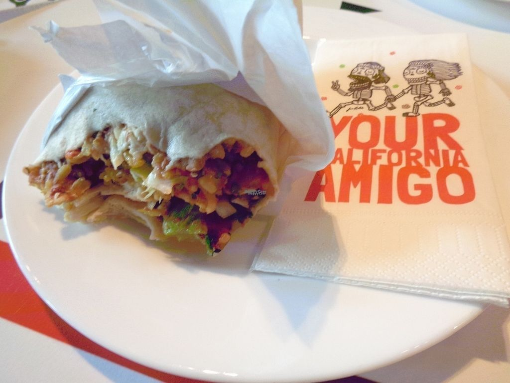 """Photo of Dolores Burritos  by <a href=""""/members/profile/FlorMayana"""">FlorMayana</a> <br/>vegan burrito <br/> September 17, 2016  - <a href='/contact/abuse/image/40529/176339'>Report</a>"""