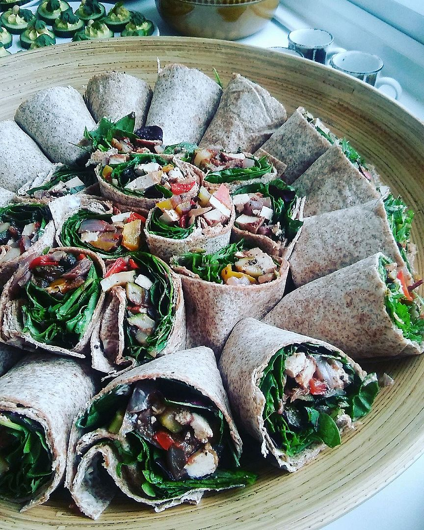 """Photo of The Spotless Leopard - Food Van  by <a href=""""/members/profile/TheSpotlessLeopard"""">TheSpotlessLeopard</a> <br/>Roast vegetable and smoked tofu wraps <br/> June 18, 2017  - <a href='/contact/abuse/image/40575/270515'>Report</a>"""