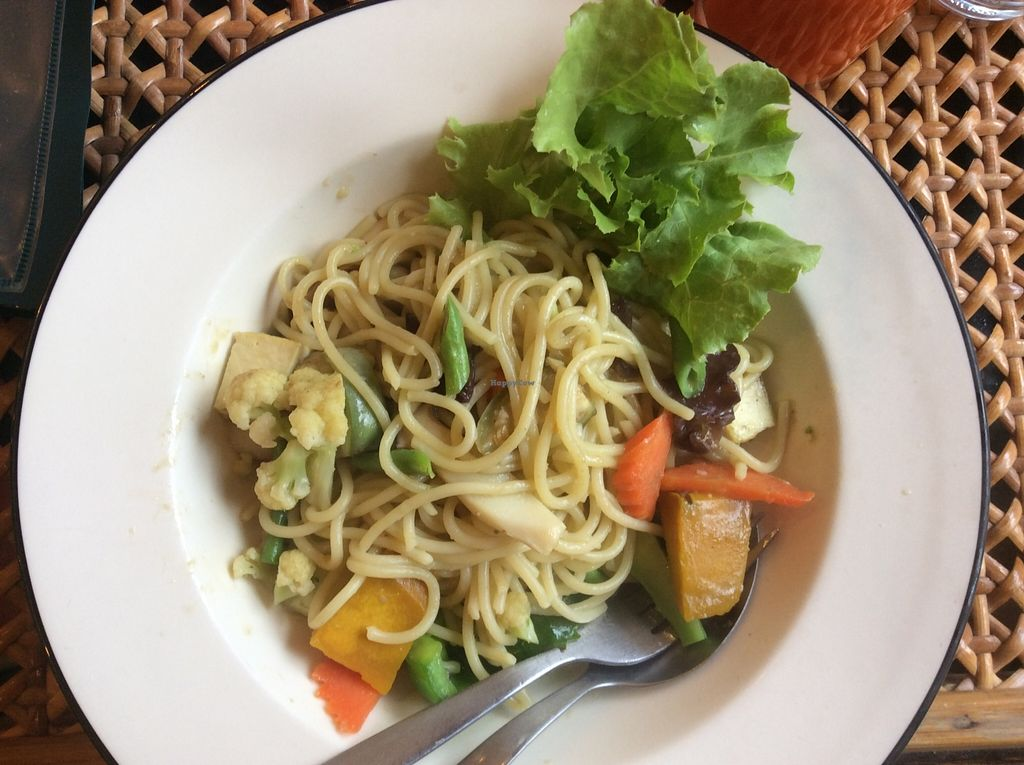 """Photo of Fuang Vegetarian  by <a href=""""/members/profile/samesamebutvegan"""">samesamebutvegan</a> <br/>Spaghetti with Green Curry <br/> January 25, 2016  - <a href='/contact/abuse/image/40611/133729'>Report</a>"""