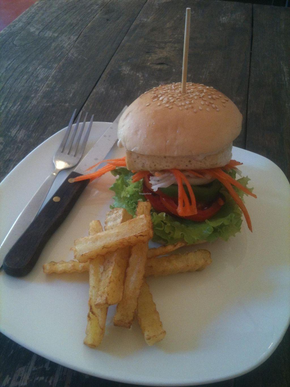 "Photo of Fuang Vegetarian  by <a href=""/members/profile/CaluCalu"">CaluCalu</a> <br/>Tofu burger 70 baht <br/> February 3, 2016  - <a href='/contact/abuse/image/40611/134824'>Report</a>"