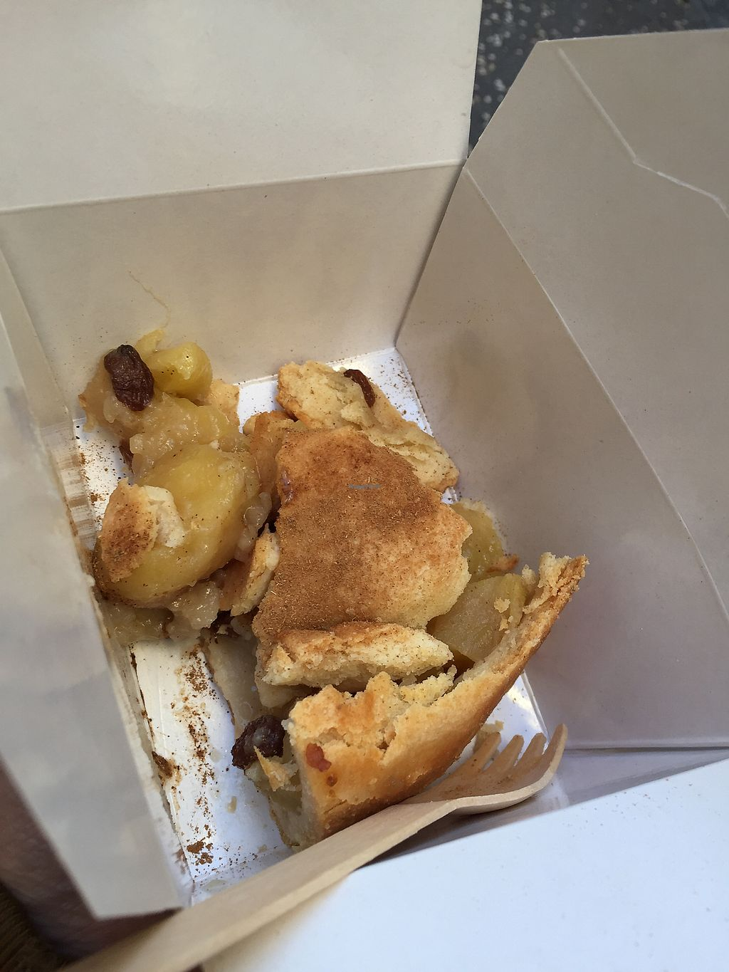"""Photo of Quinoa Bar Vegetaria  by <a href=""""/members/profile/Jameskille"""">Jameskille</a> <br/>Apple pie takeaway!  <br/> October 10, 2017  - <a href='/contact/abuse/image/40631/313876'>Report</a>"""
