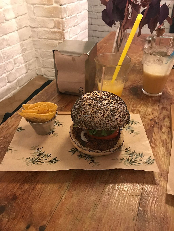 "Photo of Quinoa Bar Vegetaria  by <a href=""/members/profile/SHA1107"">SHA1107</a> <br/>Veggie burger <br/> November 1, 2017  - <a href='/contact/abuse/image/40631/320625'>Report</a>"